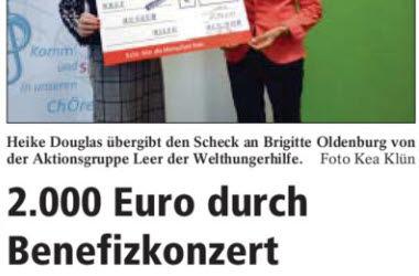 2.000 Euro durch Benefizkonzert