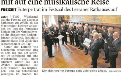 Männerchor Euterpe gab Konzert