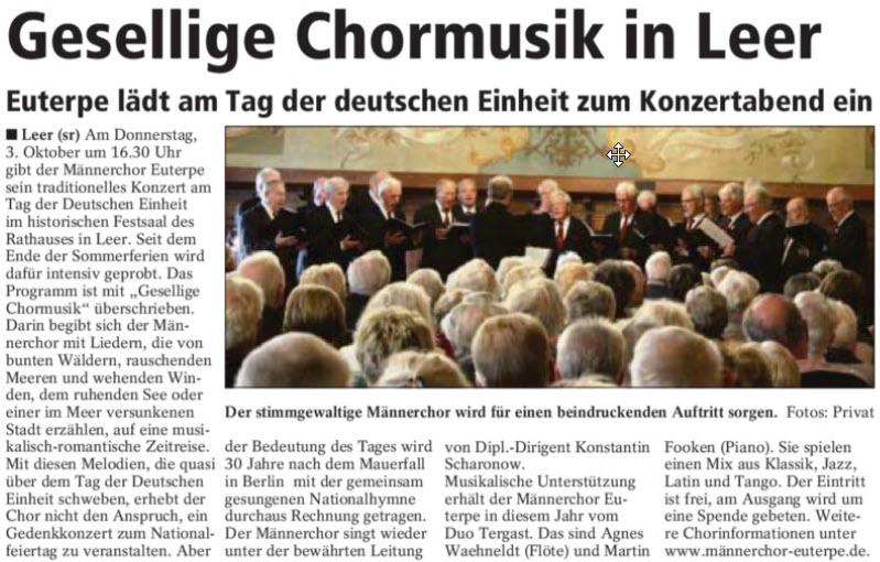 Gesellige Chormusik in Leer