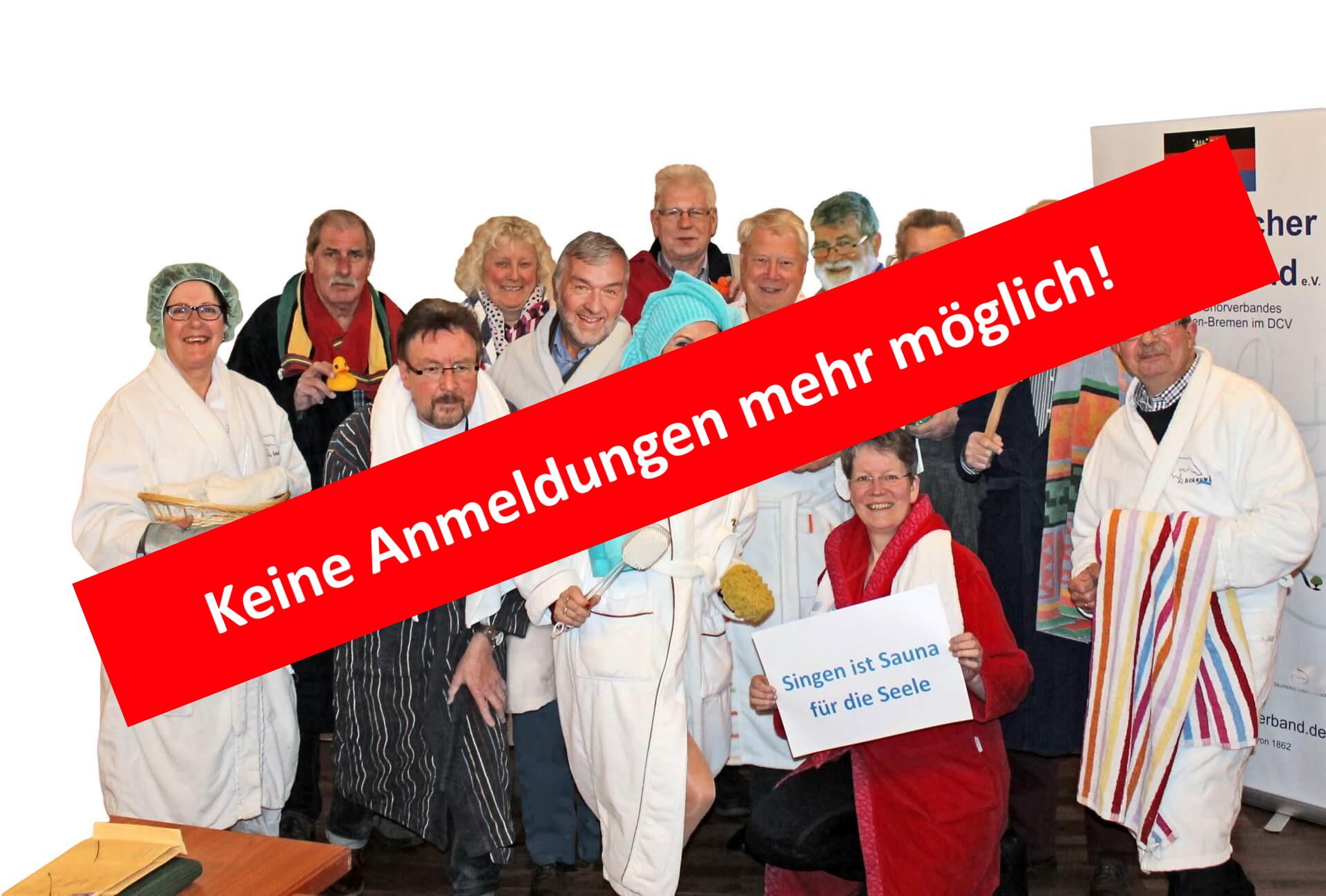 AUSGEBUCHT – Singen ist Sauna für die Seele 21.09.2019