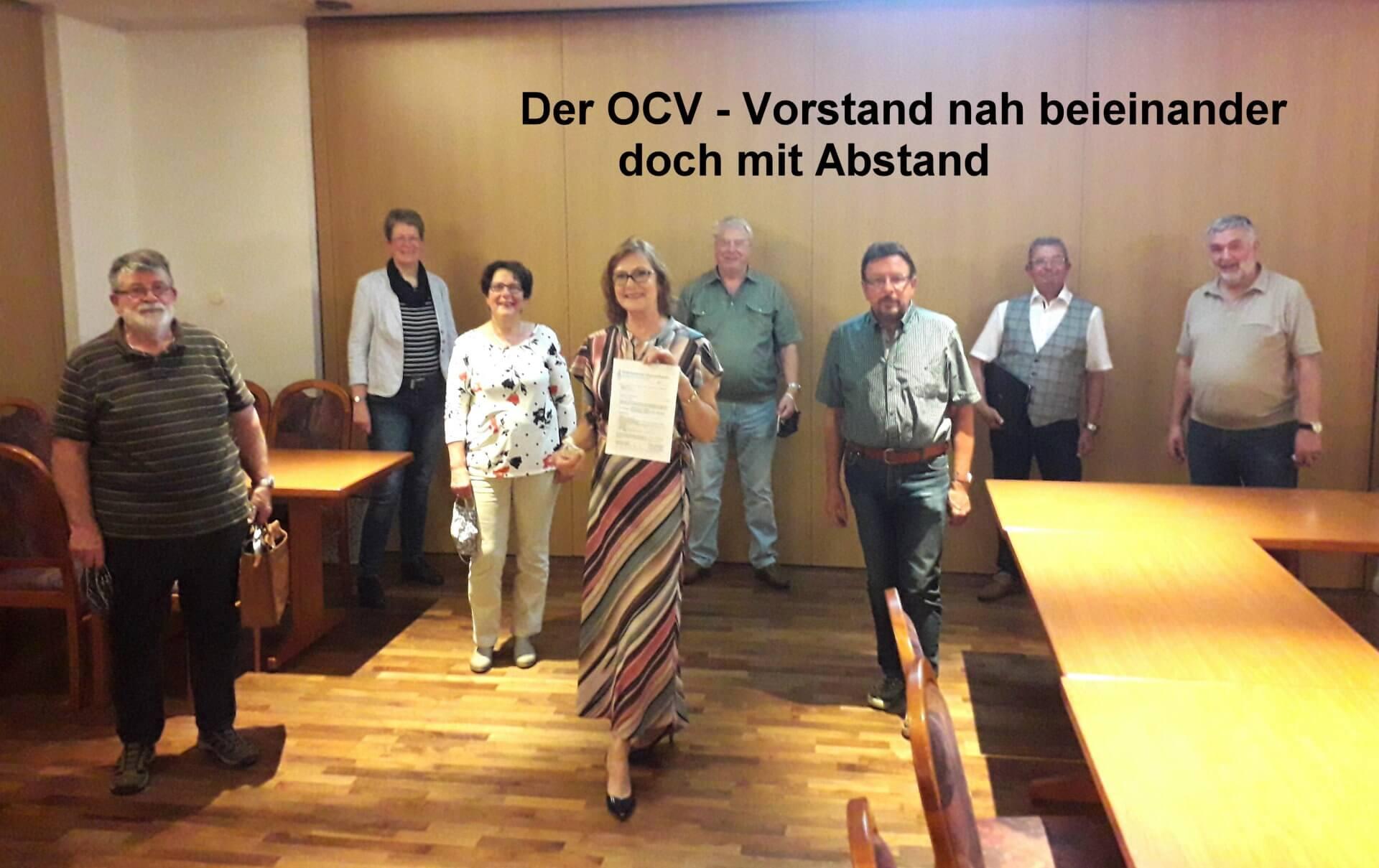 OCV Vorstandsitzung: 1. Mal wieder ANALOG und mit großer Vorplanung