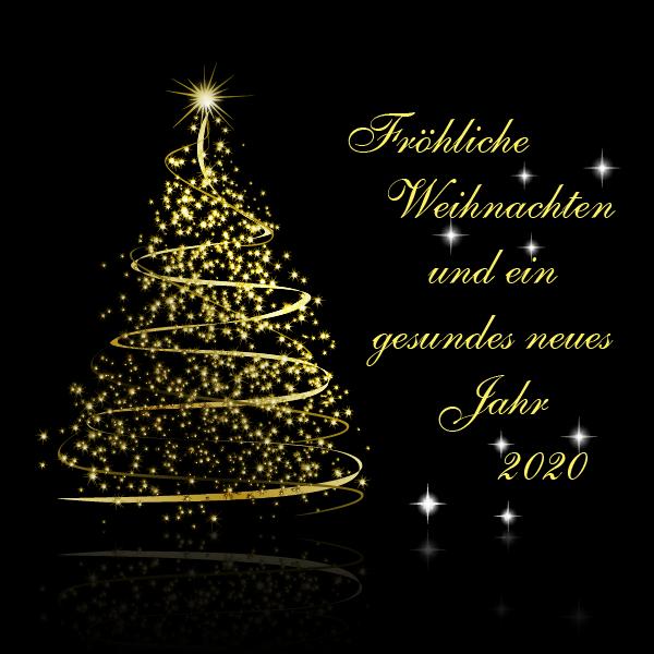 Fröhliche Weihnachten und guten Rutsch in 2020
